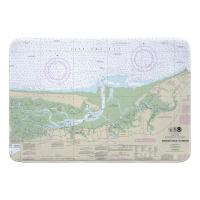 MA: Barnstable Harbor, MA Nautical Chart Memory Foam Bath Mat