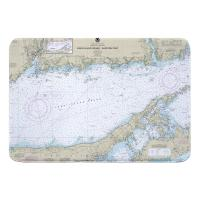 NY: Long Island Sound, NY (Eastern) Nautical Chart Memory Foam Bath Mat