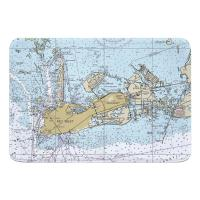 FL: Key West, FL Nautical Chart Memory Foam Bath Mat