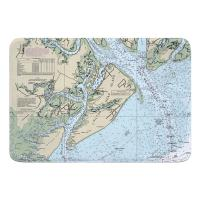 SC: Hilton Head Island, SC Nautical Chart Memory Foam Bath Mat