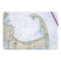 MA: Cape Cod, MA Nautical Chart Memory Foam Bath Mat