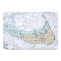 MA: Nantucket Island, MA Nautical Chart Memory Foam Bath Mat