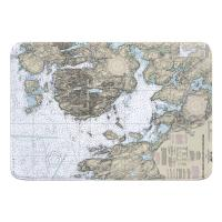 ME: Frenchman Bay and Mount Desert Island, ME Nautical Chart Memory Foam Bath Mat