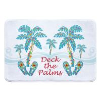 Deck the Palms Memory Foam Bath Mat - White