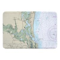 FL: Amelia Island, Talbot Island, Atlantic Beach, FL Nautical Chart Memory Foam Bath Mat