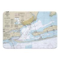FL: Pensacola Bay, FL Nautical Chart Memory Foam Bath Mat