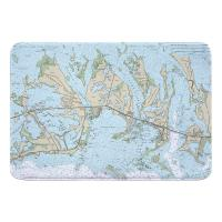 FL: Sugarloaf, Cudjoe & Summerland Keys, FL Nautical Chart Memory Foam Bath Mat