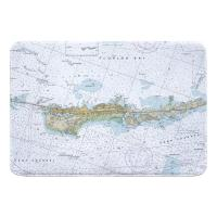 FL: Vaca Key Marathon, FL Nautical Chart Memory Foam Bath Mat