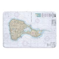 RI: Block Island, RI Nautical Chart Memory Foam Bath Mat