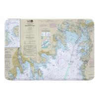 MA: Buzzards Bay, MA Nautical Chart Memory Foam Bath Mat