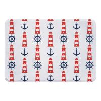 Captains Key Lighthouse Memory Foam Bath Mat