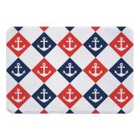 Captains Key Anchor Memory Foam Bath Mat