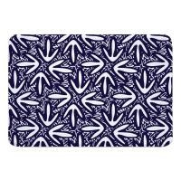 Tribal Lagoon Navy Memory Foam Bath Mat