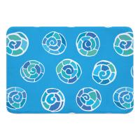 Nautilus Shell Sketch Memory Foam Bath Mat