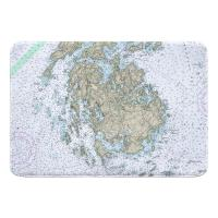 ME: Vinalhaven, ME Nautical Chart Memory Foam Bath Mat