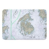 ME: North Haven, Vinalhaven, ME Nautical Chart Memory Foam Bath Mat