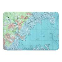 NJ: Tuckerton, Little Egg Harbor, NJ (1995) Topo Map Memory Foam Bath Mat