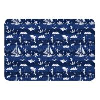Blue Sea Mix Memory Foam Bath Mat