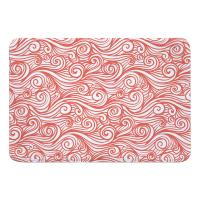 Dreamy Sea Coral Memory Foam Bath Mat