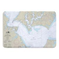 MD: Patuxent River; Solomons Island and Vicinity, MD Nautical Chart Memory Foam Bath Mat