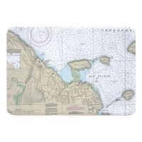 ME: Bar Harbor, ME Nautical Chart Memory Foam Floor Mat