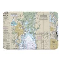 AL: Mobile, AL Nautical Chart Memory Foam Bath Mat