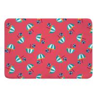 Umbrellas and Beach Balls Memory Foam Bath Mat