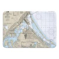 MN-WI: Duluth, MN & Superior, WI Nautical Chart Memory Foam Floor Mat