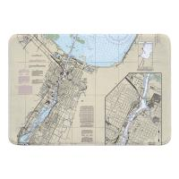 WI: Green Bay, WI Nautical Chart Memory Foam Bath Mat