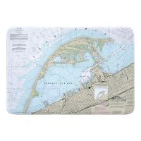 PA: Erie Harbor, Presque Isle, PA Nautical Chart Memory Foam Bath Mat
