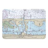 FL: Fort Pierce Inlet, FL Nautical Chart Memory Foam Bath Mat