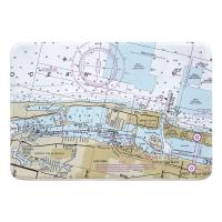 FL: Lake Worth Inlet, Singer Island, Palm Beach, FL Nautical Chart Memory Foam Bath Mat
