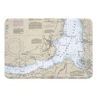 NC: Edenton, NC Nautical Chart Memory Foam Bath Mat
