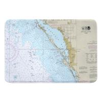 FL: Sarasota, FL Nautical Chart Memory Foam Bath Mat