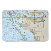 FL: Bradenton, FL Nautical Chart Memory Foam Bath Mat