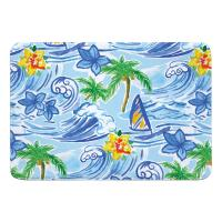 Hawaiian Surf Memory Foam Bath Mat