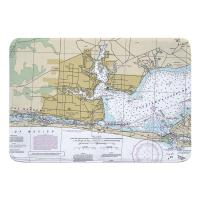 FL: Fort Walton Beach, FL Nautical Chart Memory Foam Bath Mat