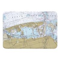 FL: Miami Beach, FL Nautical Chart Memory Foam Bath Mat