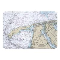 NJ: Sandy Hook, NJ Nautical Chart Memory Foam Bath Mat