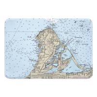 OH: Catawba Island, OH Nautical Chart Memory Foam Bath Mat