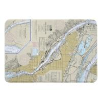 OR: Portland, OR Nautical Chart Memory Foam Bath Mat