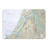 OR: Coos Bay, OR Nautical Chart Memory Foam Bath Mat
