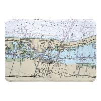 FL: Vero Beach, FL Nautical Chart Memory Foam Bath Mat