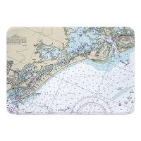 FL: Estero Island, Fort Myers Beach, FL Nautical Chart Memory Foam Bath Mat