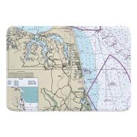 VA: Virginia Beach, VA Nautical Chart Memory Foam Bath Mat