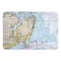 VA: Hampton, VA Nautical Chart Memory Foam Bath Mat