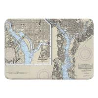 DC: Washington Harbor, DC Nautical Chart Memory Foam Bath Mat