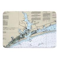 NC: Swansboro, NC Nautical Chart Memory Foam Bath Mat