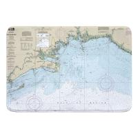 FL: Apalachee Bay, FL Nautical Chart Memory Foam Bath Mat