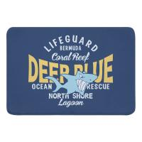 Deep Blue Shark Memory Foam Bath Mat